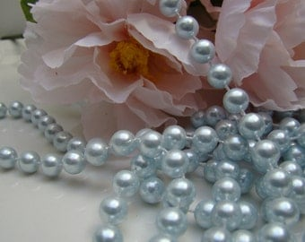 String Pearls, Pearl Strand, Blue Pearl, Party Decor, Pearls, 3 Yards