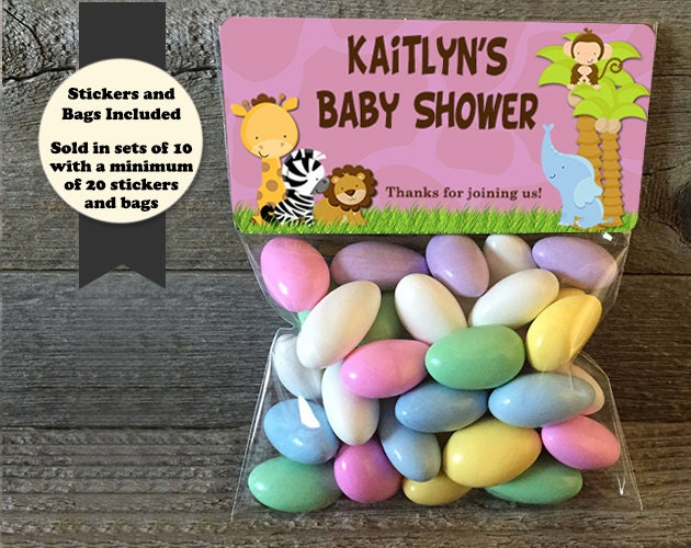 safari baby shower treat bags safari baby shower stickers and