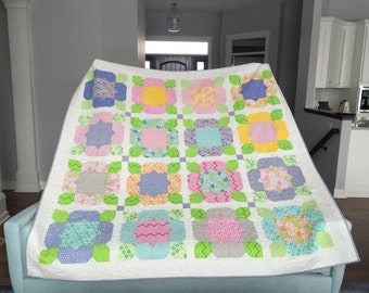 Bright and colorful lap Quilt