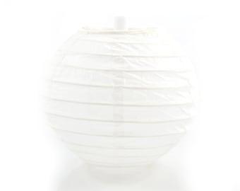 MINI PAPER LANTERN - White Mini Paper Lantern (10cm / Approx 4 Inch Diameter)