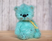 5 inches miniature Teddy bear Blythe friend handmade artist toy