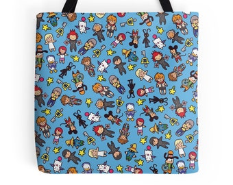 Kingdom Chibi Pattern ~ Kingdom Hearts ~ Polyester Premium Tote Bag