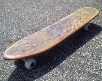 Ugly Stick Cruiser, Driftwood Stain - Handmade Vintage Inspired  Skateboard with Trucks and Wheels