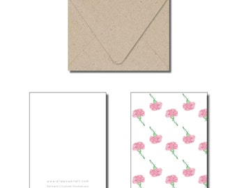 Pink Floral Everyday Greeting Card
