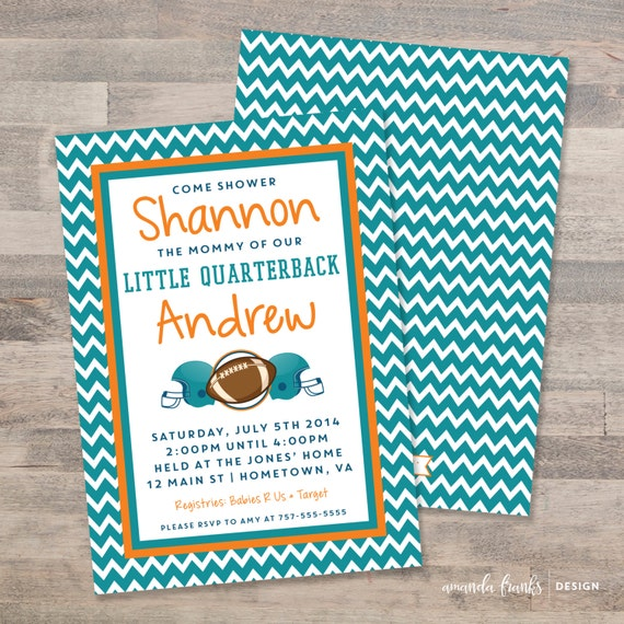 Baby Shower In Miami: Little Quarterback Invitation Baby Shower Invite Football