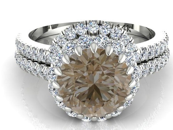 Raw Rose Cut Diamond Wedding And Engagement Rings By