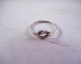 Sterling Knot Ring,Friendship Ring,Forget Me Not Promise Ring Size 6