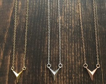 Chevron Point Necklace