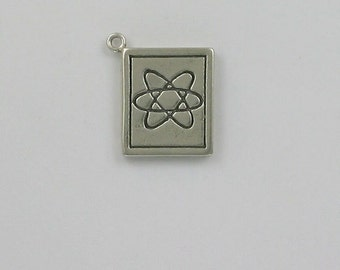 Sterling Silver 3-D Science Book Charm