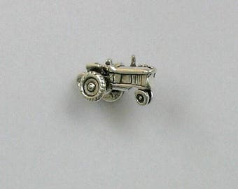 Sterling Silver 3-D Tractor Charm