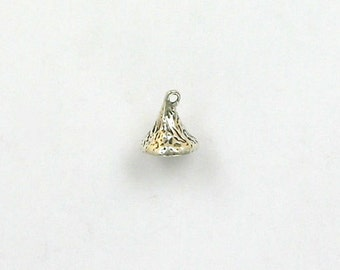 Sterling Silver 3-D Chocolate Kiss Charm