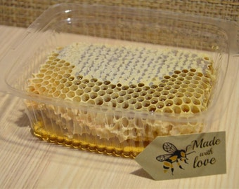Natural Pure Raw Honeycomb Squares / 100% Organic / Just Fresh From Bee Hives
