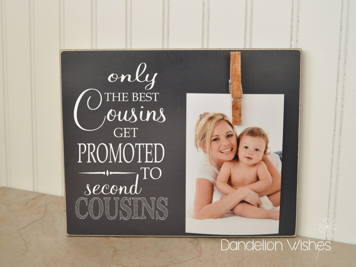only the best cousins get promoted to second cousins cousin promotion photo frame cousin gift pregnancy reveal pregnancy announcement