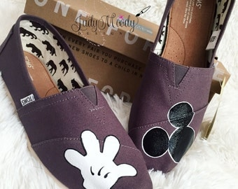 Gray Disney Toms - Mickey/Glove