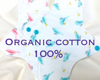 """7.5""""(19cm) Pantyliner: Organic Cotton Flannel ***MADE TO ORDER ***Thin***"""
