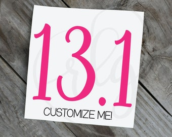 13.1 (or other number) Decal