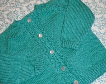 Grasshopper Green Baby Sweater/12 Month/Baby Gift