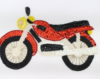 "Large Motorcycle Applique 9.25""X5.5"""