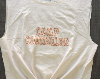 Camp Counselor Cut and Tied Tee Halloween Costume, Large