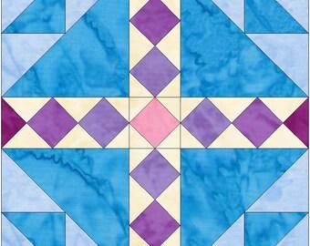 Bird's Nest 10 Inch Paper Foundation Quilting Block Pattern