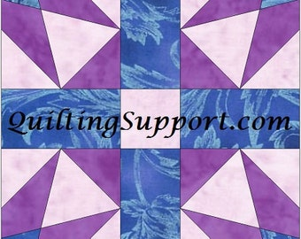 New Star 10 Inch Block Paper Foundation Quilting Block Pattern PDF
