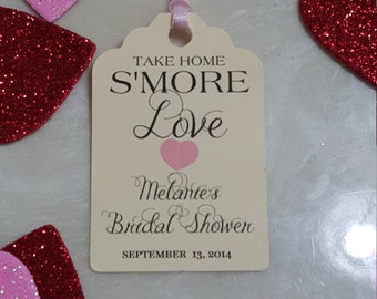 Personalized Favor Tags 2 1/2'', Wedding tags, Thank You tags, Favor tags, Gift tags, Bridal Shower Favor Tags, s'more