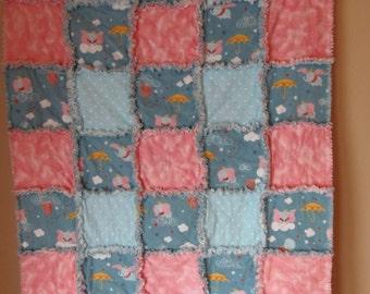 Dumbo Flannel Rag Quilt