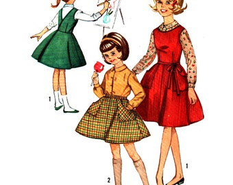 Simplicity Sewing Pattern 5131 Girls' Blouse, Wrap-around Jumper, Skirt  Size:  7  Used