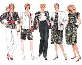 Vogue Sewing Pattern 8617 Misses' Jacket, Skirt, Pants, Shorts, Top  Size:  14-16-18  Uncut