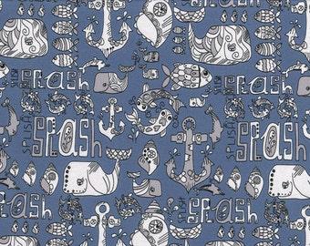 Jersey - anchor - splish splash - dark blue