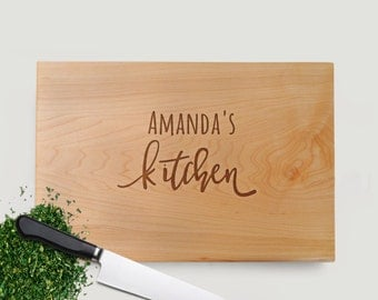 Personalized Engraved Wood Cutting Board Kitchen Gift for Her - Mother's Day or Birthday Gift Idea