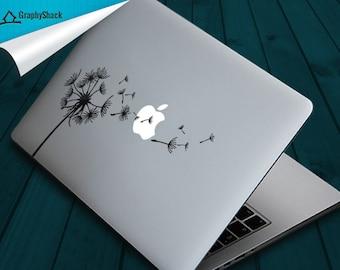 Mac Decal Dandelion Mac Decals Macbook Decals Floral Design