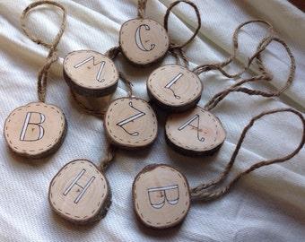 Alphabet Letter Initial Ornament Etsy