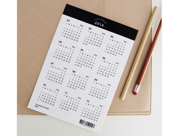 2016 White Calendar Sticker / 101376135