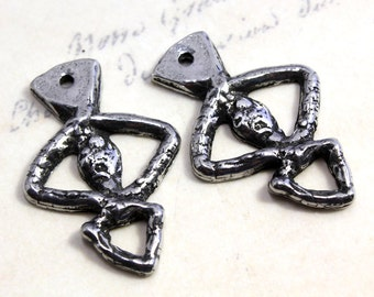 Handcast Ancient Eye Charms Pewter Jewelry Supply No. 150C