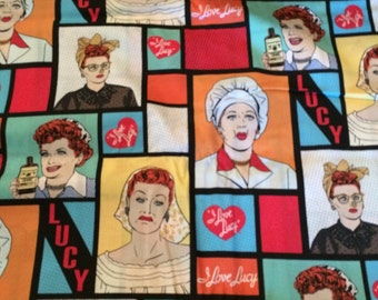 I Love Lucy cotton fabric