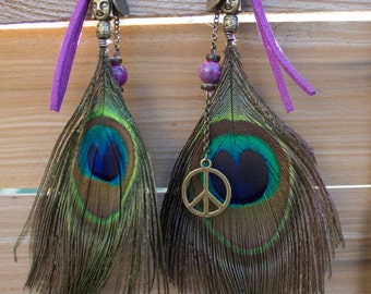 """Earrings With Feathers """"Pakhi"""""""
