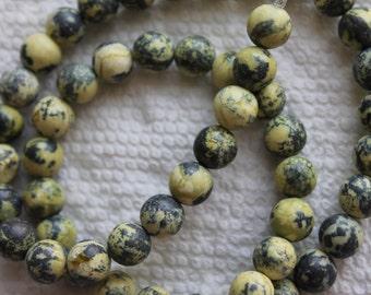 Yellow Turquoise Round Beads