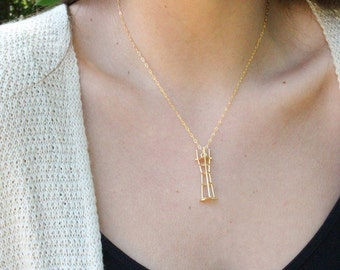 14k Gold Sutro Tower Charm