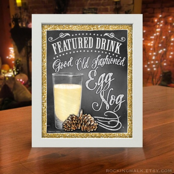 Non-Alcoholic Signature Drink Signs | Christmas Party Decorations | Custom Prints GLITTER FX for Kids Parties and Family Friendly Gatherings