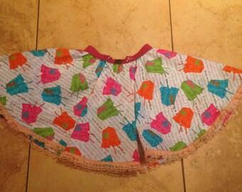 Toddler Skirt, Twirly Skirt, Twirly Circle Skirt, Girls Circle Skirt, Toddler Girls Twirl Skirt, Girls Skirt, Cute Cotton skirt,  4T Skirt,