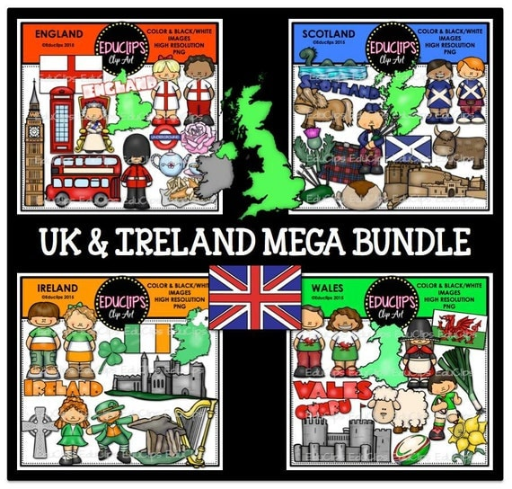 Uk ireland clip art bundle for Jack in the box fish and chips