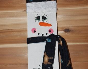 Handmade Snow Measure Snowman-yard deco