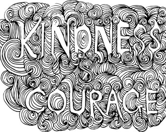 "Art Print - Kindness & Courage 11x14"" Digital Download"