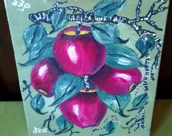 APPLES Thrift Store Painting on Canvas