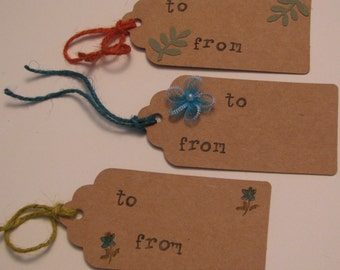 Handmade Paper Gift Tag Assortment - Flower Assortment #3