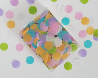 Tissue Confetti 1 oz. Custom Color Blend Round - decoration / party confetti / confetti toss / custom decorations / wedding decoration