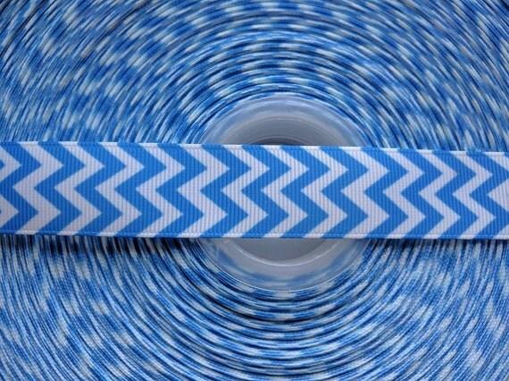 """BLUE 7/8"""" 22mm Grosgrain Hair Bow Craft Ribbon 782669"""
