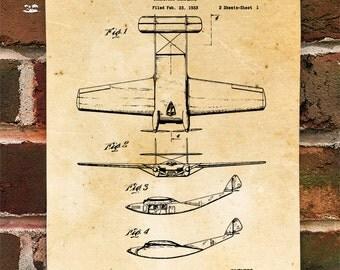 KillerBeeMoto: Duplicate of Original U.S. Patent Drawing For Vintage Burnelli Transport Aircraft
