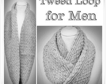 Knitting Pattern Cowl Tweed Men